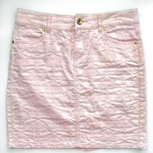 Point Zero Pastel Pink Denim Skirt Medium